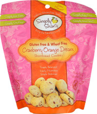 5 PACK of Simply Sharis Shortbread Cookies Gluten & Wheat Free Cranberry Orange Dream - 6.5 oz