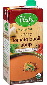 5 PACK of Pacific Natural Foods Organic Creamy Tomato Basil Soup - 32 fl oz