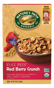 Natures Path, Organic Flax Plus Cereal,  Red Berry Crunch - 10.5 oz -5 PACK