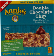 5 PACK of Annies Homegrown Chewy Gluten Free Granola Bars Double Chocolate Chip - 5 Bars