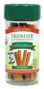 3 PACK of Frontier Co-Op Organic Cinnamon Sticks -- 0.85 oz