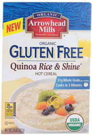 Arrowhead Mills, Organic Gluten Free Quinoa Rice and Shine Cereal - 14 oz -5 PACK