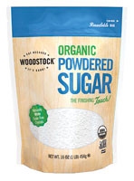 Woodstock, Organic Powdered Sugar - 16 oz -5 PACK