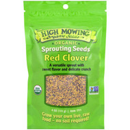 3 PACK OF High Mowing Organic Seeds, Red Clover, Sprouting Seeds, 4 oz (113 g)