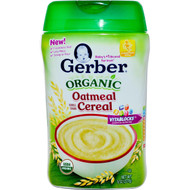 3 PACK of Gerber, Organic Oatmeal Cereal, 8 oz (227 g)