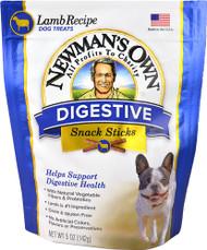 5 PACK of Newmans Own Digestive Snack Sticks Dog Treats Lamb Recipe - 5 oz