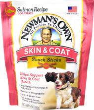 5 PACK of Newmans Own Skin & Coat Snack Sticks Dog Treats Salmon Recipe - 5 oz