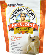 5 PACK of Newmans Own Hip & Joint Snack Sticks Dog Treats Chicken Recipe - 5 oz