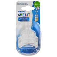 3 PACK OF Philips Avent, Slow Flow Anti-Colic Nipples, 1 + Months, 2 Pack