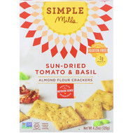 3 PACK OF Simple Mills, Naturally Gluten-Free, Almond Flour Crackers, Sun-Dried Tomato & Basil, 4.25 oz (120 g)