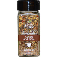 3 PACK of Simply Organic, Organic Spice Right Everyday Blends, Pepper and More, 2.2 oz (62 g)
