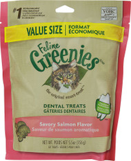 5 PACK of Greenies Feline Dental Treats Value Size Savory Salmon - 5.5 oz