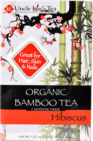 5 PACK of Uncle Lees Organic Bamboo Tea  Hibiscus - 18 Tea Bags