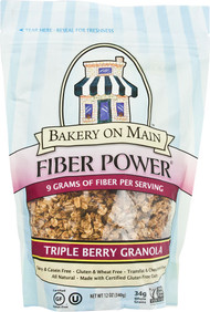 Bakery On Main, Fiber Power Granola Gluten Free,  Triple Berry - 12 oz -5 PACK