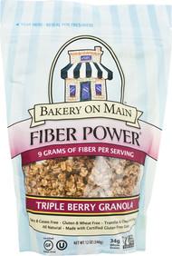 Bakery On Main, Fiber Power Granola Gluten Free,  Triple Berry - 12 oz