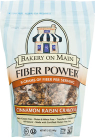 Bakery On Main, Fiber Power Granola Gluten Free,  Cinnamon Raisin - 12 oz -5 PACK