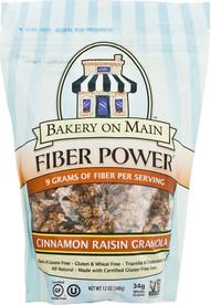 Bakery On Main, Fiber Power Granola Gluten Free,  Cinnamon Raisin - 12 oz