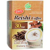 3 PACK of Longreen Corporation, 2 in 1 Reishi Coffee, Reishi Mushroom & Coffee, 30 Bags, 2.3 oz (65.4 g) Each
