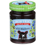 3 PACK of Crofters Organic, Just Fruit Spread, Organic Wild Blueberry, 10 oz (283 g)