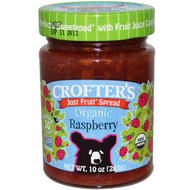3 PACK of Crofters Organic, Just Fruit Spread, Organic Raspberry, 10 oz (283 g)