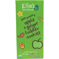 Ellas Kitchen, Toddler Cookies, Apple + Ginger, 12 Packs, 9 g Each