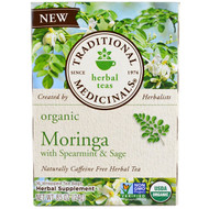 3 PACK OF Traditional Medicinals, Organic Moringa with Spearmint & Sage , 16 Wrapped Tea Bags, 86 oz (24 g)