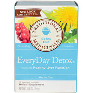 3 PACK OF Traditional Medicinals, Detox Teas, EveryDay Detox, 16 Wrapped Tea Bags, .85 oz (24 g)