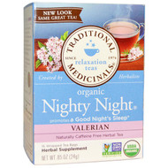 3 PACK of Traditional Medicinals, Relaxation Teas, Organic Nighty Night, Naturally Caffeine Free Herbal Tea, Valerian, 16 Wrapped Tea Bags, .85 oz (24 g)