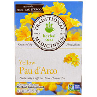 3 PACK OF Traditional Medicinals, Herbal Teas, Yellow Pau d Arco, Naturally Caffeine Free, 16 Wrapped Tea Bags, .85 oz (24 g)