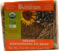 3 PACK of Bavarian Breads, Organic Sunflowerseed Rye Bread, 17.6 oz (500 g)