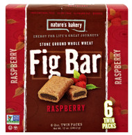 Natures Bakery, Stone Ground Whole Wheat Fig Bar,  Raspberry - 6 Twin Packs -5 PACK
