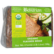 3 PACK of Bavarian Breads, Organic Flaxseed Bread, 17.6 oz (500 g)