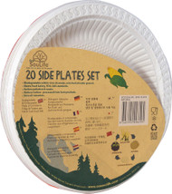 5 PACK of EcoSouLife Cornstarch Side Plates 7-Inch Natural - 20 Dishes