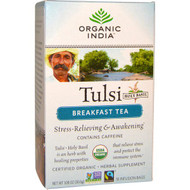 3 PACK of Organic India, Tulsi, Holy Basil,  Breakfast Tea, 18 Infusion Bags, 1.08 oz (30.6 g)
