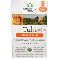 3 PACK of Organic India, Tulsi Holy Basil Tea, Masala Chai, 18 Infusion Bags, 1.33 oz (37.8 g)