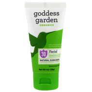 3 PACK of Goddess Garden, Organics, Facial, Natural Sunscreen, SPF 30, 1 oz (28 g)