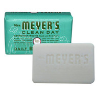 3 PACK of Mrs. Meyers Clean Day, Daily Bar Soap, Basil Scent, 5.3 oz (150 g)