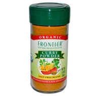 3 PACK of Frontier Natural Products, Organic Curry Powder, Salt-Free Blend, 1.90 oz (54 g)