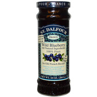 3 PACK of St. Dalfour, Wild Blueberry, Deluxe Wild Blueberry Spread, 10 oz (284 g)