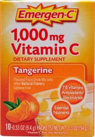 3 Pack of Emergen-C Vitamin C Fizzy Drink Mix Tangerine - 1000 mg - 10 Packets