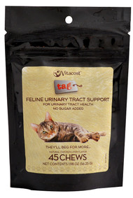 Vitaco, - Tag Feline Urinary Tract Support,  Chicken Liver Flavor - 45 Chewables -5 PACK