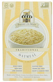 Bakery On Main, Instant Oatmeal Gluten Free,  Unsweetened - 6 Packets -5 PACK