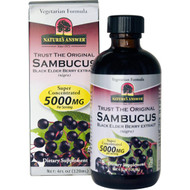 Natures Answer, Sambucus, Black ElderBerry, 12,000 mg, 4 fl oz (120 ml)