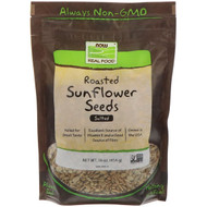 Now Foods, Real Food, Roasted Sunflower Seeds, Salted, 16 oz (454 g)