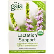 3 PACK of Gaia Herbs, Lactation Support, Caffeine-Free, 16 Tea Bags, 1.13 oz (32 g)
