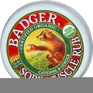3 Pack of Badger Organic Sore Muscle Rub Cayenne and Ginger - 0.75 oz