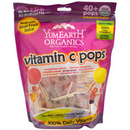 3 PACK of YumEarth, Organic Pops, Vitamin C, Assorted Flavors, 40 Pops, 8.5 oz (241 g)