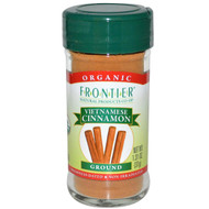 3 PACK of Frontier Natural Products, Organic Vietnamese Cinnamon, Ground, 1.31 oz (37 g)