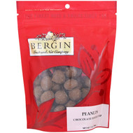 3 PACK OF Bergin Fruit and Nut Company, Peanuts, Chocolate Double Dip, 7 oz (198 g)
