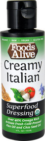 3 PACK of Foods Alive Superfood Dressing Creamy Italian -- 4 fl oz